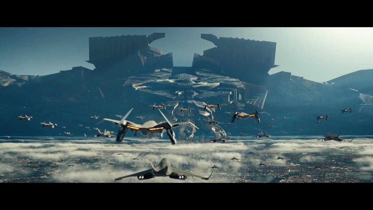 Download Fighting Against Alien Harvesting Mothership Clip (Independence Day Resurgence)