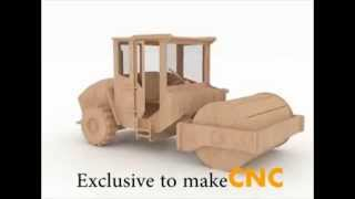 Road Roller Wooden Toy Pattern For Cnc Routers And Lasers