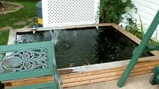 Small Backyard Koi Pond 1000-1200 Gal, Ez Build Diy.