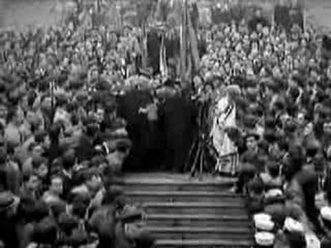 Film of G.K. Chesterton at Holy Cross College in Worcester, Massachusetts (1931)