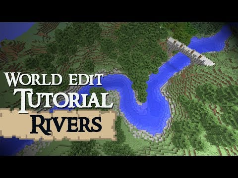 RIVERS World Edit Tutorial Minecraft