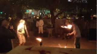 First Friday (Las Vegas) - Fire Twirling and Juggling (Random Rapper at the end!)