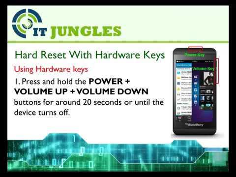 Hard reset blackberry q10 using keys