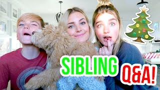 ANSWERING QUESTIONS WITH MY SIBLINGS!  | VLOGMAS DAY 12
