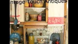 Antique Kitchen Display With Hoosier Cabinet
