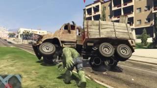 GTA 5 MODS: Mad Hulk in the City 2016