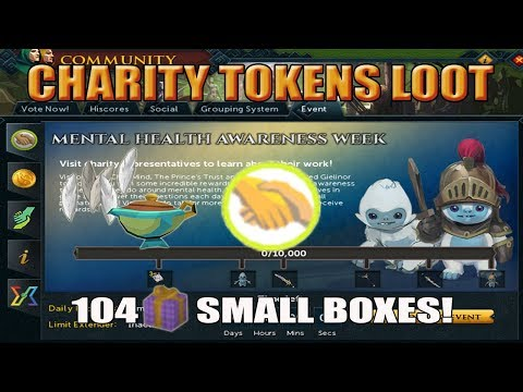 [Runescape 3] Loot from 26k Charity Tokens | Mental Health Awareness Week