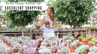 Come Succulent Shopping With Me | Green Things Nursery Tucson