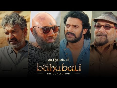 Thumbnail: Baahubali 2 | On The Sets | SS Rajamouli, Prabhas, Sathyaraj, Sabu Cyril