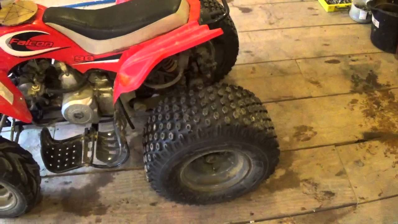 random stuff utv seats and bigger tires on 90cc atv [ 1280 x 720 Pixel ]