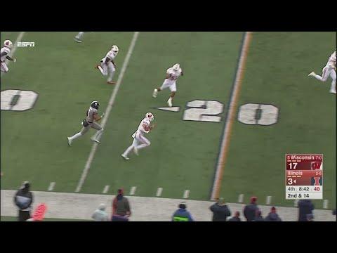 Joe Ferguson Interception vs. Illinois