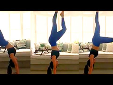 WATCH VIDEO   Jacqueline Fernandez Does A Handstand And 180 Flip   Bollywood Buzz Mp3