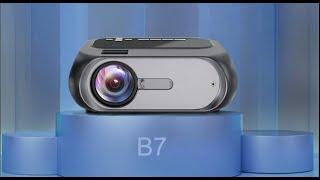 WZATCO B7 Mini LED Smart Projector
