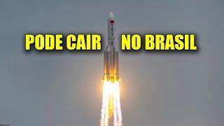 FOGUETE CHINÊS de 30 METROS ESTÁ CAINDO DESCONTROLADAMENTE - BRASIL ESTÁ NO CAMINHO!