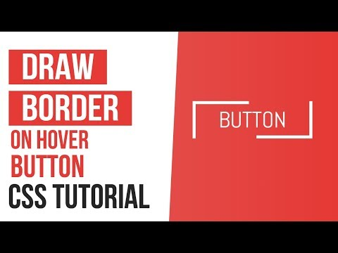 Draw Border On Hover Buttons CSS | CSS Border Animation | CSS Tutorials