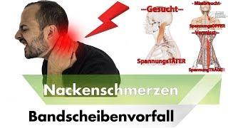 NACKENSCHMERZEN & HWS Bandscheibenvorfall | Symptome, Ursachen & Lösungen