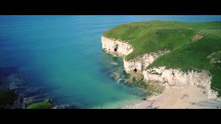 Cliffs and Kayaks - DJI Mavic Pro Aerial Drone Footage 4K Flamborough Head