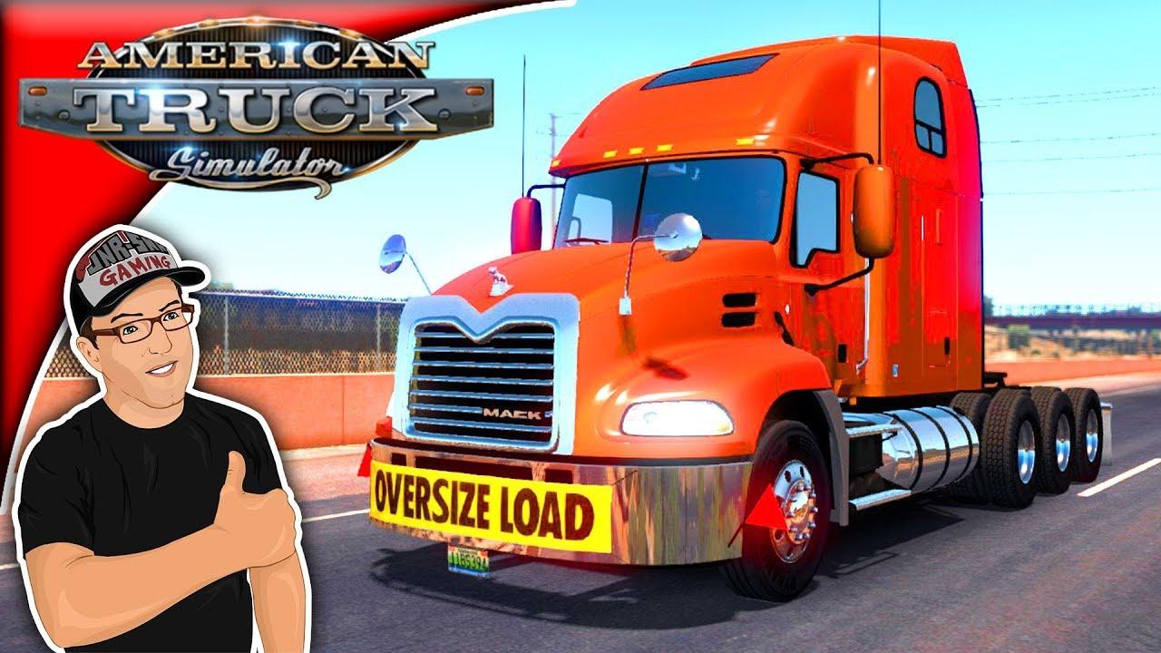 American Truck Simulator Mods Mack Pinnacle Mod Review - YouTube