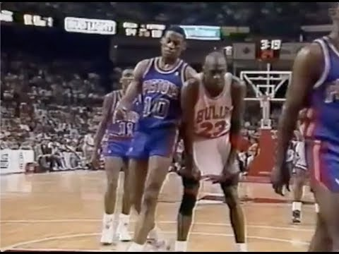 Dennis Rodman Defense on Michael Jordan - 1990 NBA ECF