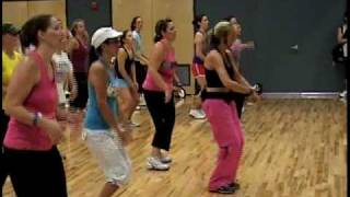 Zumba!!! Shakira - Waka Waka (Mountainside Fitness Center Julie Beauchamp 06-25-10).avi