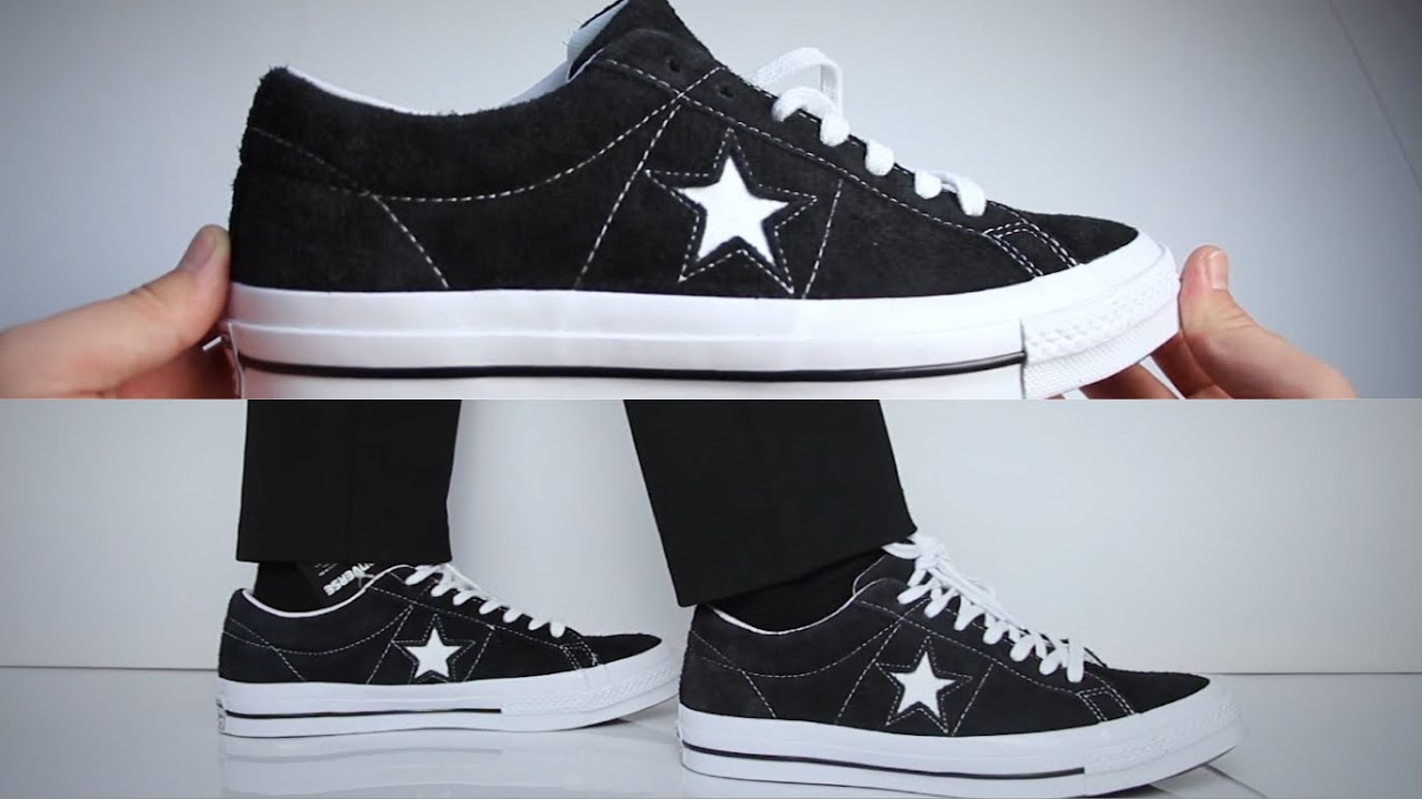 1dc7c3bc1d5f Converse One Star ON FEET   UNBOXING - YouTube