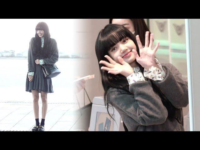 200218 블랙핑크 리사(BLACKPINK · LISA) 출국 '흑발 염색한 리사(Black hair)' 직캠|인천공항 · 비몽