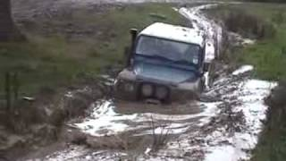Land Rover Defender V8 90 Off Road Henley in Arden in Deep Mud