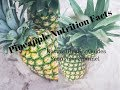 Fresh Pineapple Nutritional Facts & Values & Calories Information