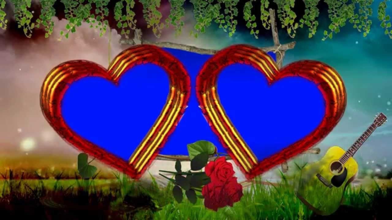 Love Symbol Wallpaper In Hd : Wedding Love Symbol Frame Blue Background Video - YouTube