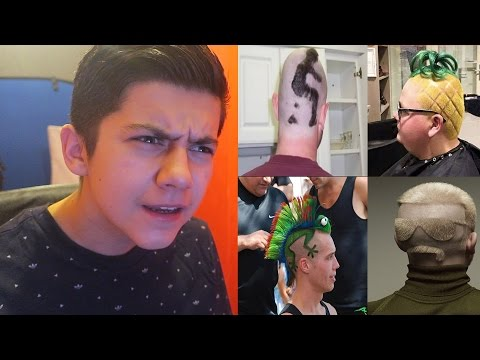 REACTING TO THE CRAZIEST HAIRSTYLES IN REAL LIFE!