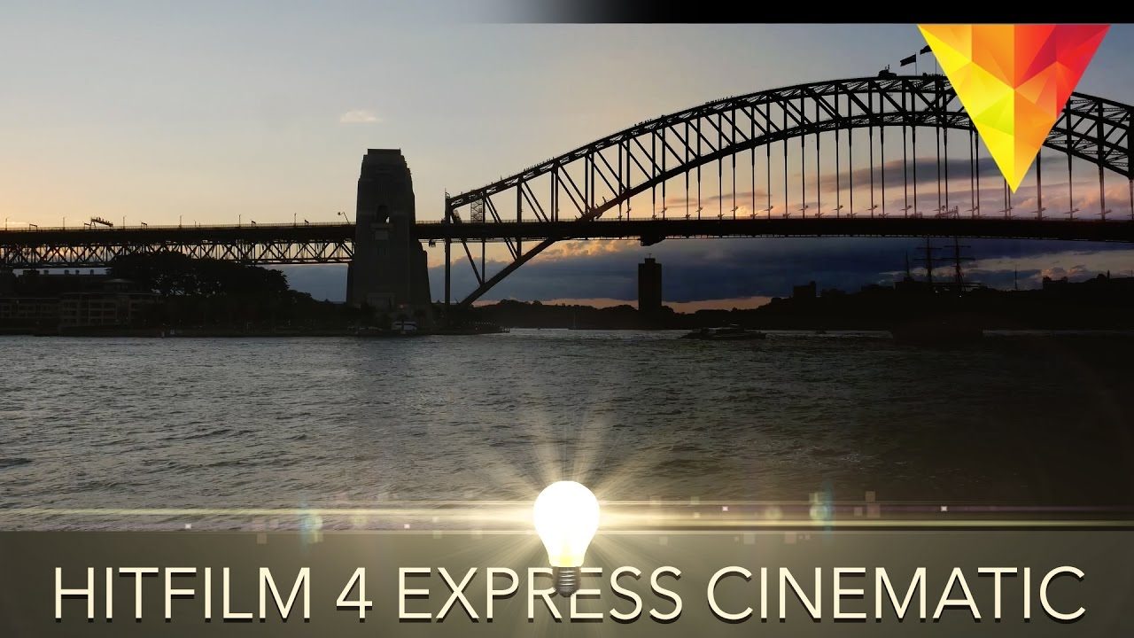 How to create Cinematic Video in Hitfilm 4 Express