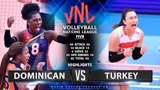 Dominican Vs Turkey  Highlights  Womens VNL 2019