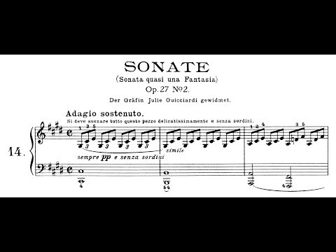 "Beethoven: Sonata quasi una fantasia, No.14 in C# Minor, ""Moonlight"" (Lortie, Jando)"