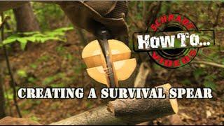 How To Make A Survival Spear- Best Bushcraft Survival Knife Schrade.