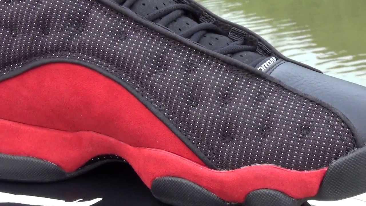 d3c34594488446 Air Jordan XIII (13) Retro Bred shoes review - YouTube