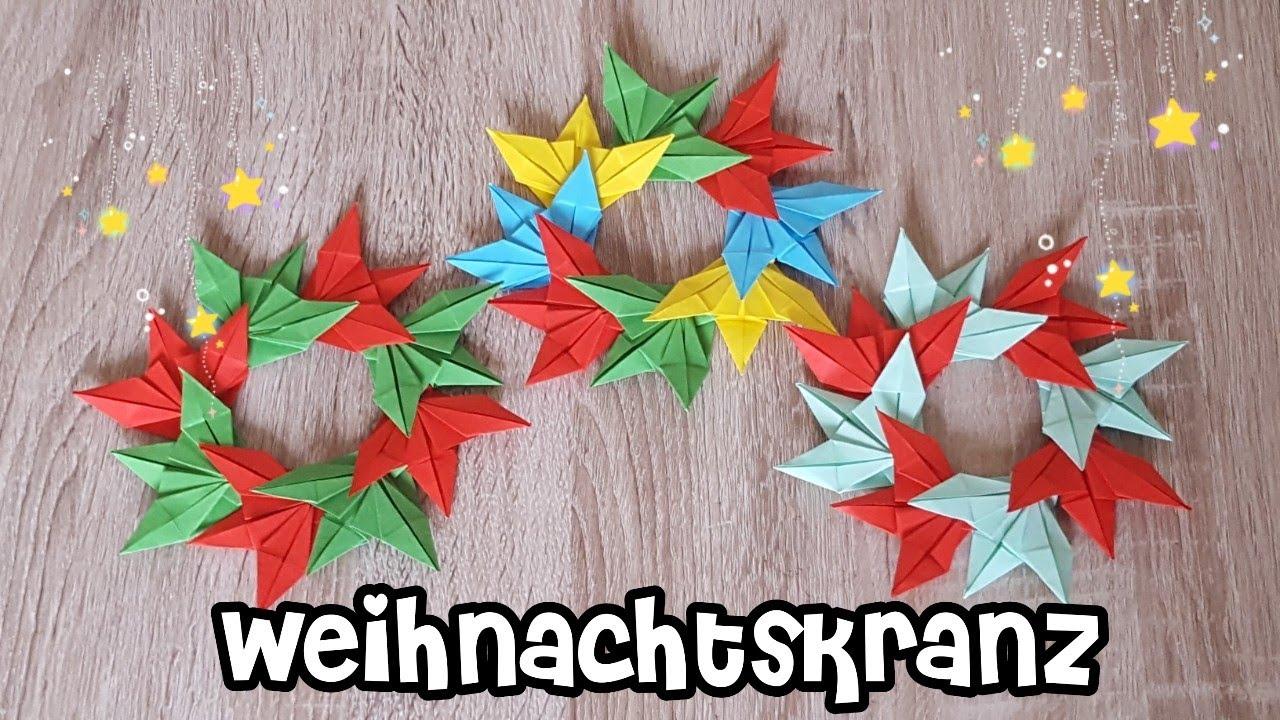 origami weihnachtskranz adventskranz aus papier origami. Black Bedroom Furniture Sets. Home Design Ideas