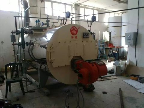 1 ton natural oil fired steam boiler China video