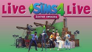 """Szybki First Look nowego DODATKU """"Zostań Gwiazdą"""" The Sims 4 (zapis Live)"""