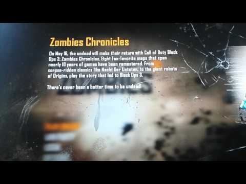 Black ops 2 Chronicles Pop Up Screen