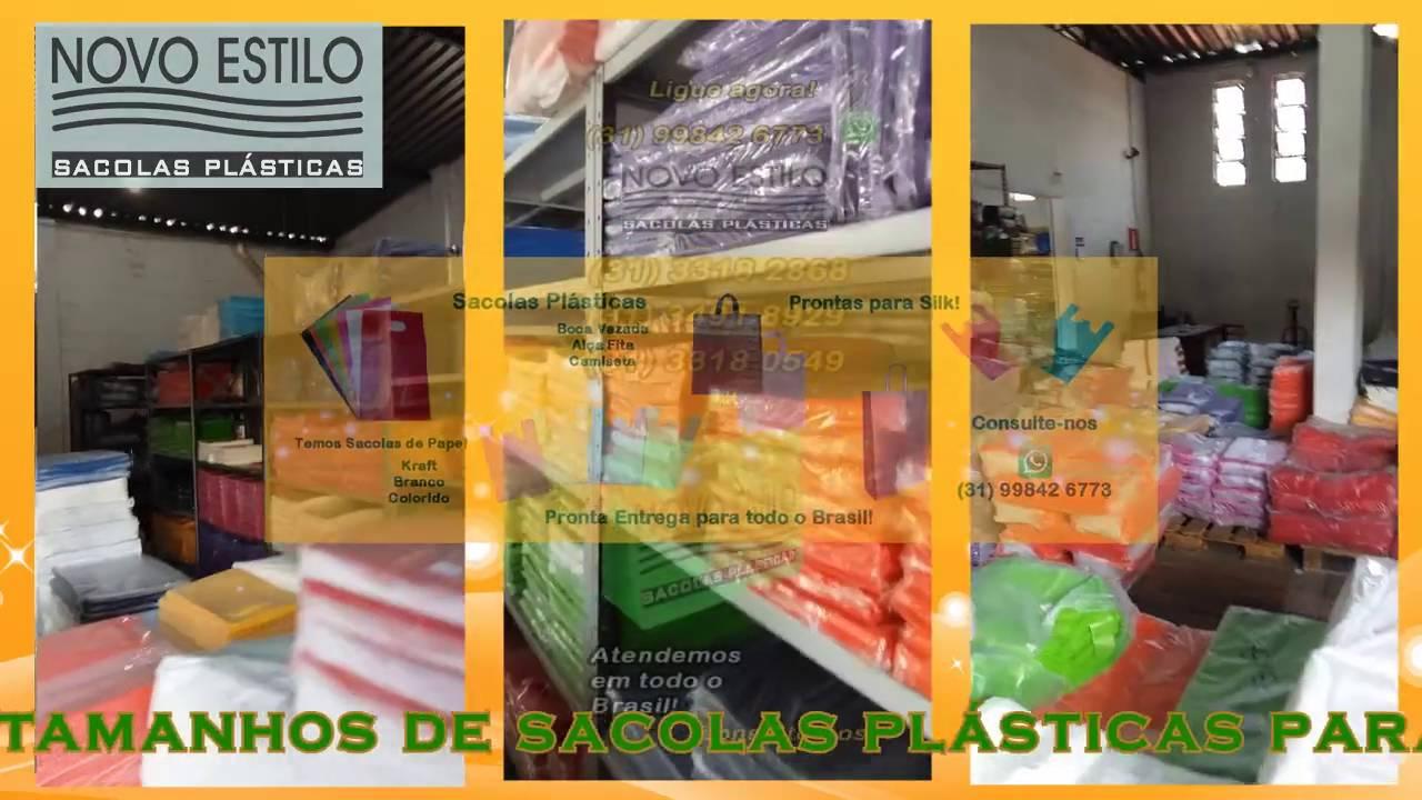 7dbcea79e Sacolas plasticas - Novo Estilo Embalagens - YouTube