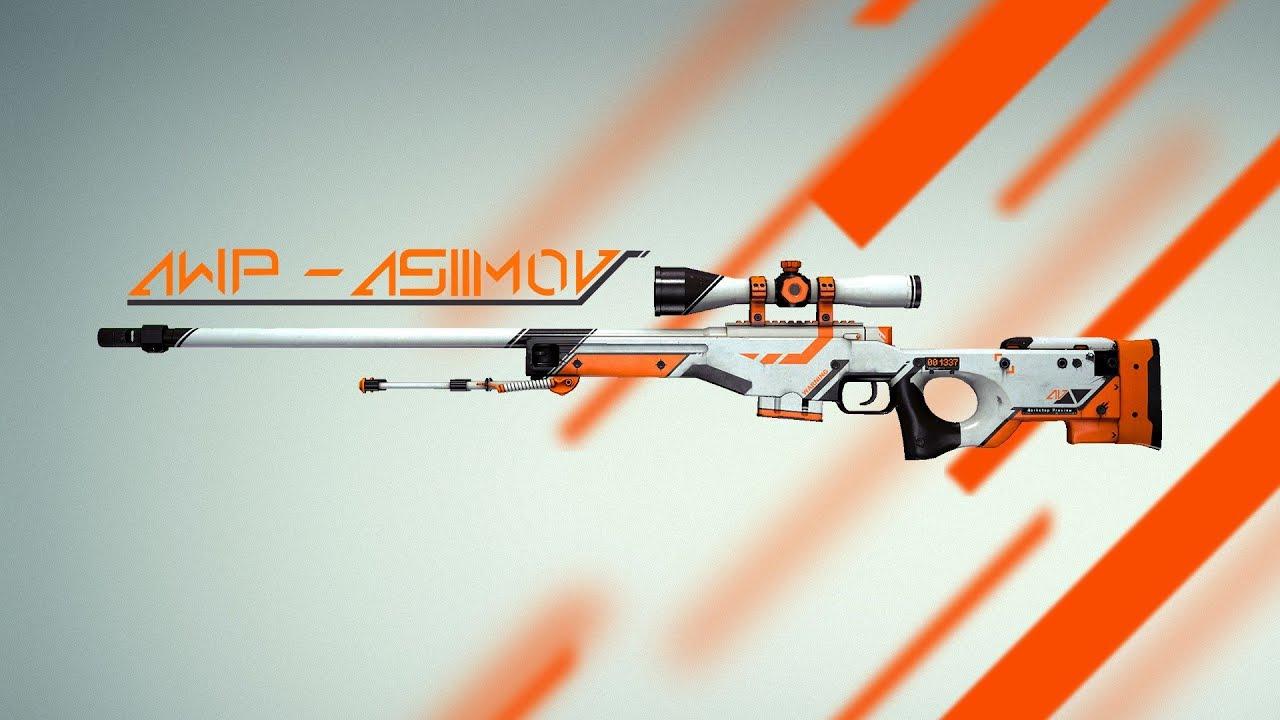 awp asiimov 3d model
