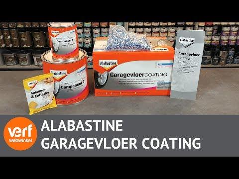 Garagevloer coating online kopen: Wat zit er in de Alabastine Garagevloer coating set?