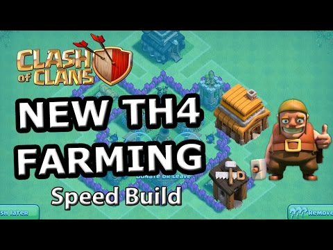 TH4 FARMING Base - Speed Build Clash of Clans 2015