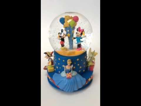 Walt Disney 100 anniversary musical snow globe.