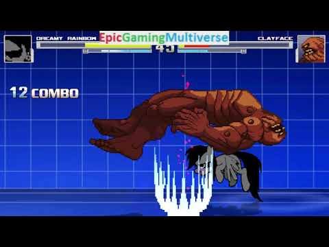 Clayface VS Dreamy Rainbow On The Hardest Difficulty In A MUGEN Match / Battle / Fight
