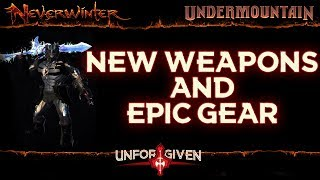 Neverwinter Mod 16 - New Weapons Sets All Epic Gear Equipment Comparison Unforgiven Barbarian(1080p)