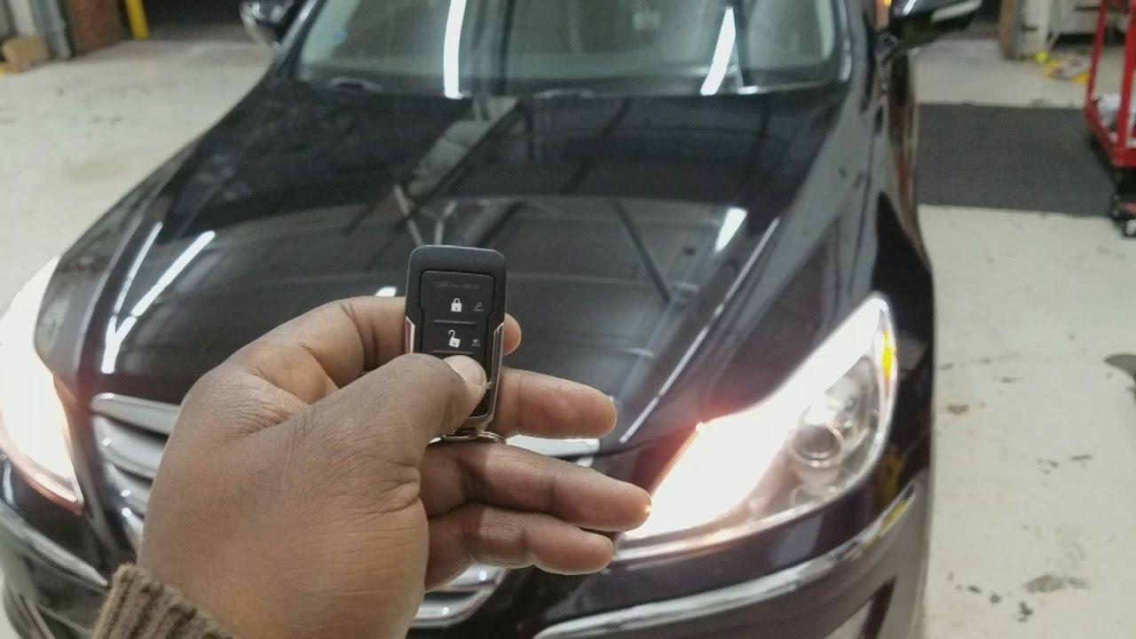 2012 Hyundai Genesis Remote Start Youtube