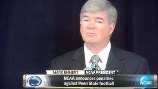NCAA President Mark Emmert Announces PSU Sanctions