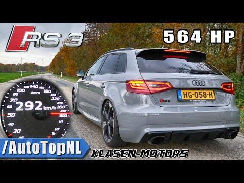 564HP AUDI RS3 KLASEN | 0-292km/h ACCELERATION LAUNCH CONTROL & DRAGY GPS By AutoTopNL