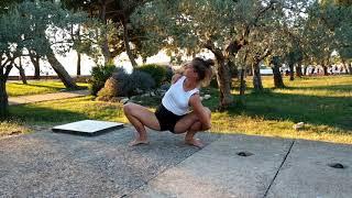 Joga- krótka sekwencja dla zabieganych - 18 min- z komentarzem ( sesja 4 )